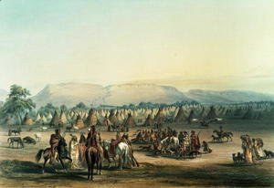 Camp of Piekann Indians