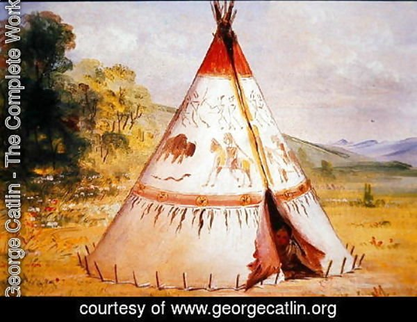 George Catlin - Teepee of the Crow Tribe, c.1850