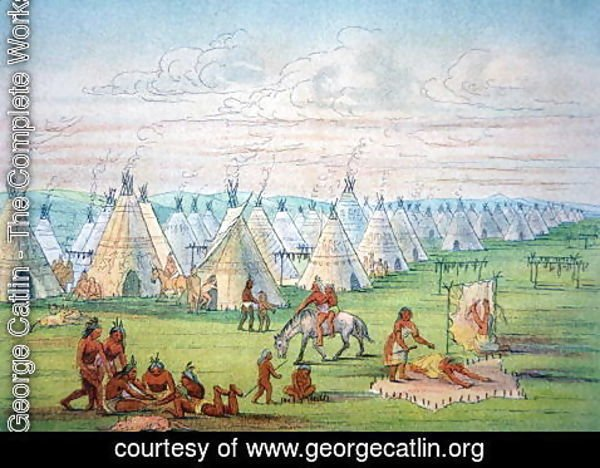 George Catlin - Sioux Camp Scene, 1841