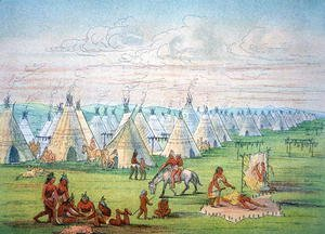 Sioux Camp Scene, 1841
