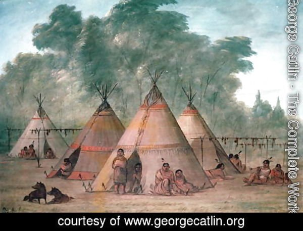 George Catlin - Sioux Village