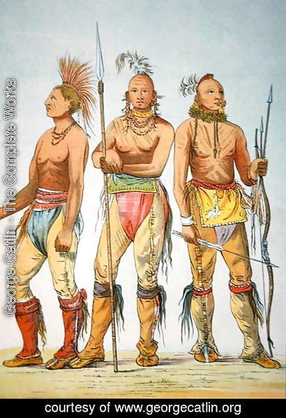 Three Osage Braves, 1841