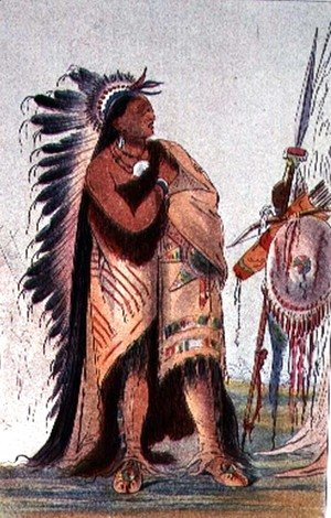 George Catlin - Crow Indian Pa-Ris-Ka-Roo-Pa, 'The Two Crows'