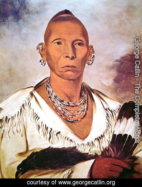 George Catlin - Portrait of Black Hawk, Indian Chief