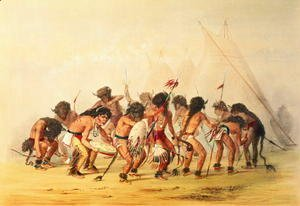 George Catlin - Buffalo Dance, c.1832