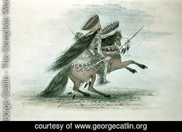 George Catlin - Warrior of the Crow Tribe