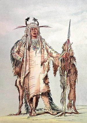 George Catlin - Blackfoot Indian Pe-Toh-Pee-Kiss, The Eagle Ribs