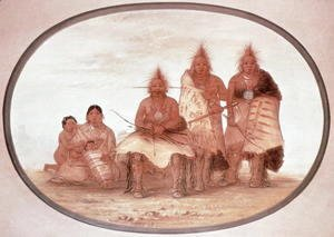 George Catlin - Pawnee Warriors, c.1832