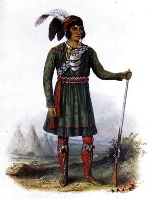 Osceola or 'Rising Sun', a Seminole Leader, 1838, illustration from 'The Indian Tribes of North America