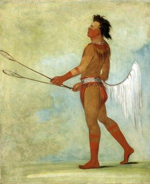 George Catlin - Tul-lock-chish-ko, Drinks the Juice of the Stone, in Ball Player's Dress, 1834