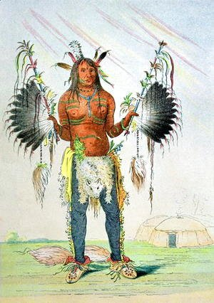 George Catlin - Mandan Medicine Man Mah-to-hah 'Old Bear', 1832-39