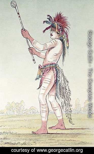 George Catlin - Sioux ball player We-Chush-Ta-Doo-Ta, 'The Red Man'