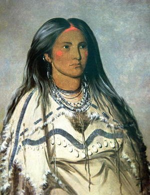 George Catlin - 'Mint', a Mandan Indian girl, 1832