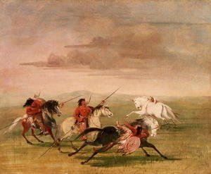 George Catlin - Red Indian Horsemanship