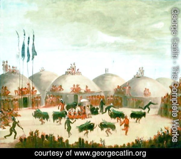 George Catlin - Buffalo Bull dance of the Mandan tribe