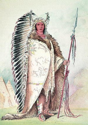 George Catlin - Sioux chief, 'The Black Rock'