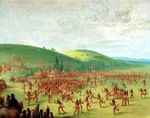 George Catlin - Indian Ball Game