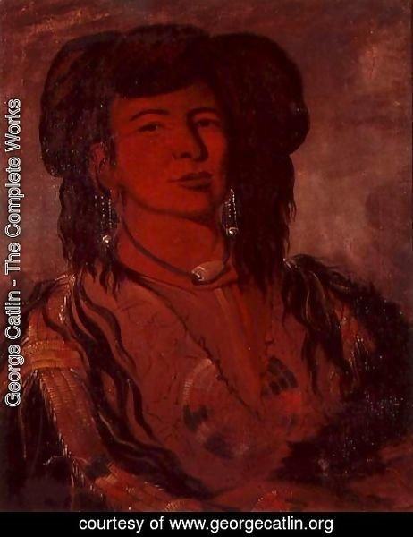 George Catlin - Head of Kate One Horn