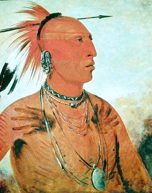George Catlin - Brave Chief, 1832