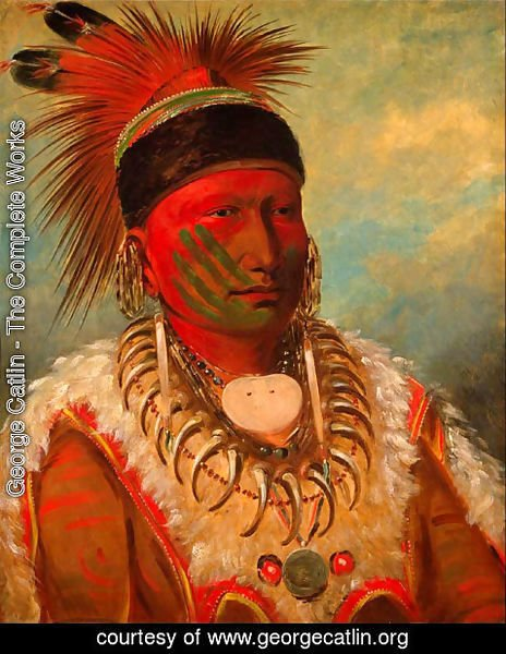George Catlin - 'White Cloud', Head Chief of the Iowas, 1844-45