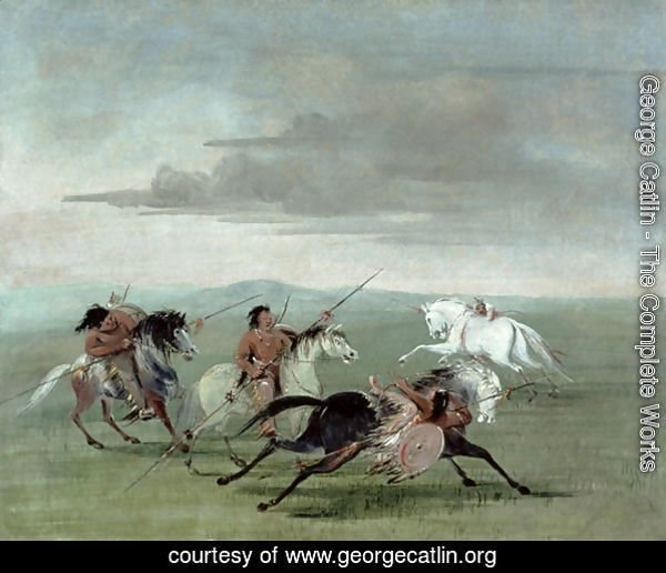 Comanche Feats of Martial Horsemanship, 1834