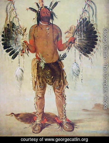 'Old Bear' medicine man of the Mandan Tribe, from a painting of 1832