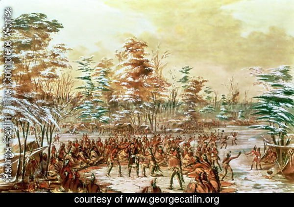 De Tonty Suing for Peace in the Iroquois Village in January 1680, 1847-48