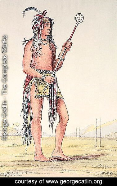 Sioux ball player Ah-No-Je-Nange, 'He who stands on both sides'
