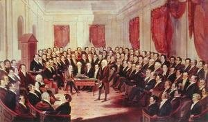 George Catlin - The Virginia Constitutional Convention, 1830