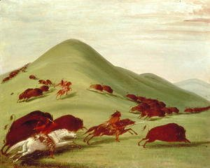 George Catlin - The Buffalo Hunt