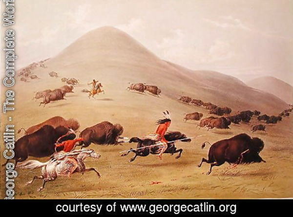 George Catlin - The Buffalo Hunt, c.1832