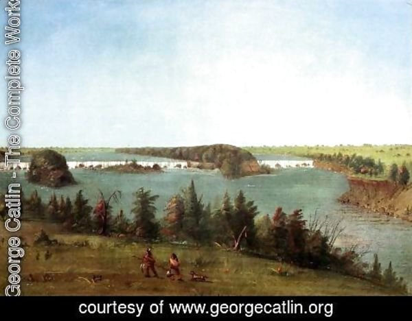 George Catlin - The Falls of St. Anthony