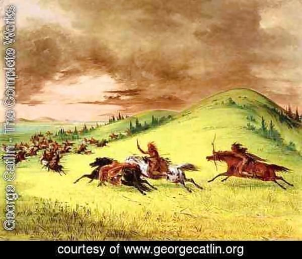 George Catlin - Battle between Sioux and Sauk and Fox