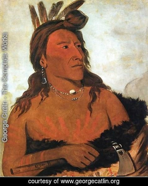 George Catlin - Little Bear, Hunkpapa Brave
