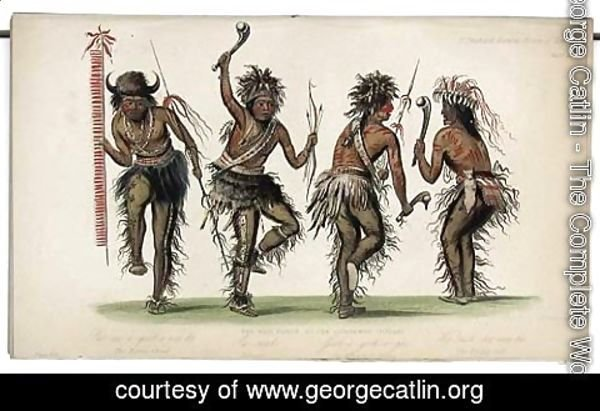 George Catlin - The War Dance by Ojibbeway Indians
