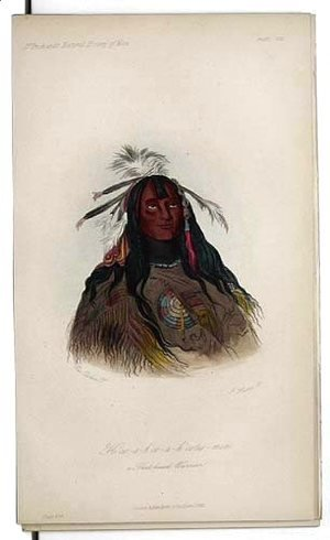 George Catlin - H'co-a-h'co-a-h'cotes-min, a Flat Head Warrior