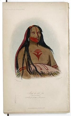 George Catlin - Mah-to--toh-pa, 2nd Chief of the Mandans