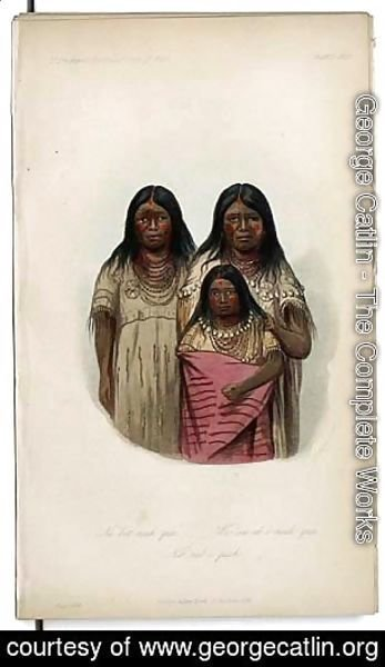 George Catlin - Ne-bet-neuh-qua and two other children...