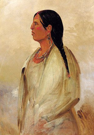 George Catlin - A Choctaw Woman