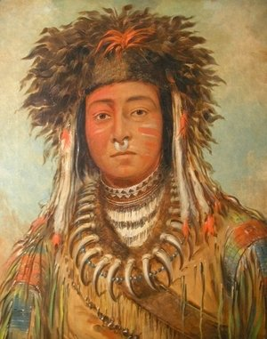 George Catlin - Boy Chief, Ojibbeway