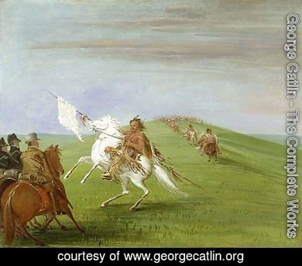 George Catlin - Comanche Meeting the Dragoons