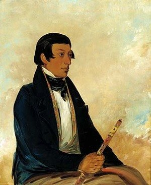 George Catlin - Kee-món-saw, Little Chief, a Chief