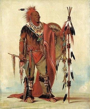 George Catlin - Kee-o-kúk, The Watchful Fox, Chief of the Tribe