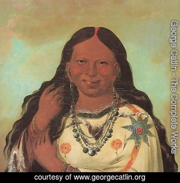 George Catlin - Kei-a-gis-gis, a woman of the Plains Ojibwa