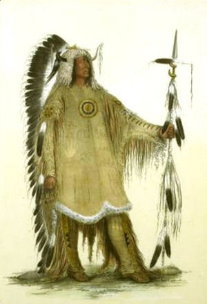 George Catlin - Mah-to-toh-pe or the Mandan Chief, Four Bears