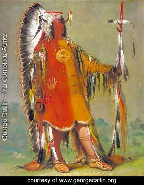 George Catlin - Máh-to-tóh-pa, Four Bears, Second Chief, in Full Dress