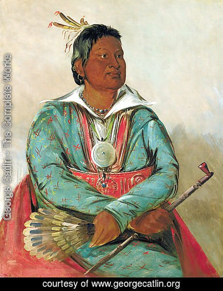 George Catlin - Mó-sho-la-túb-bee, He Who Puts Out and Kills, Chief of the Tribe