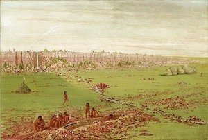 George Catlin - Pipestone Quarry on the Coteau des Prairies