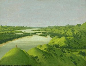 George Catlin - River Bluffs