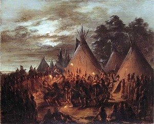 George Catlin - Scalp Dance, Sioux
